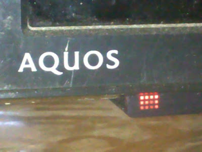 Cara memperbaiki tv led Sharp Aquos lampu indikator berkedip terus