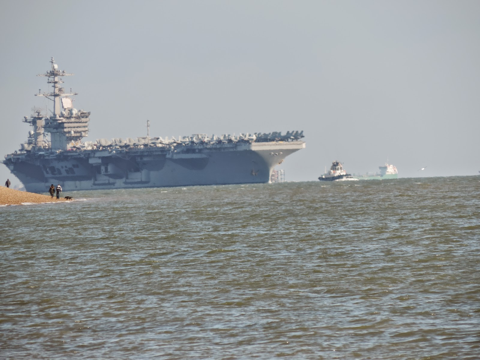 american aircraft carrier visits stokes bay on world tour
