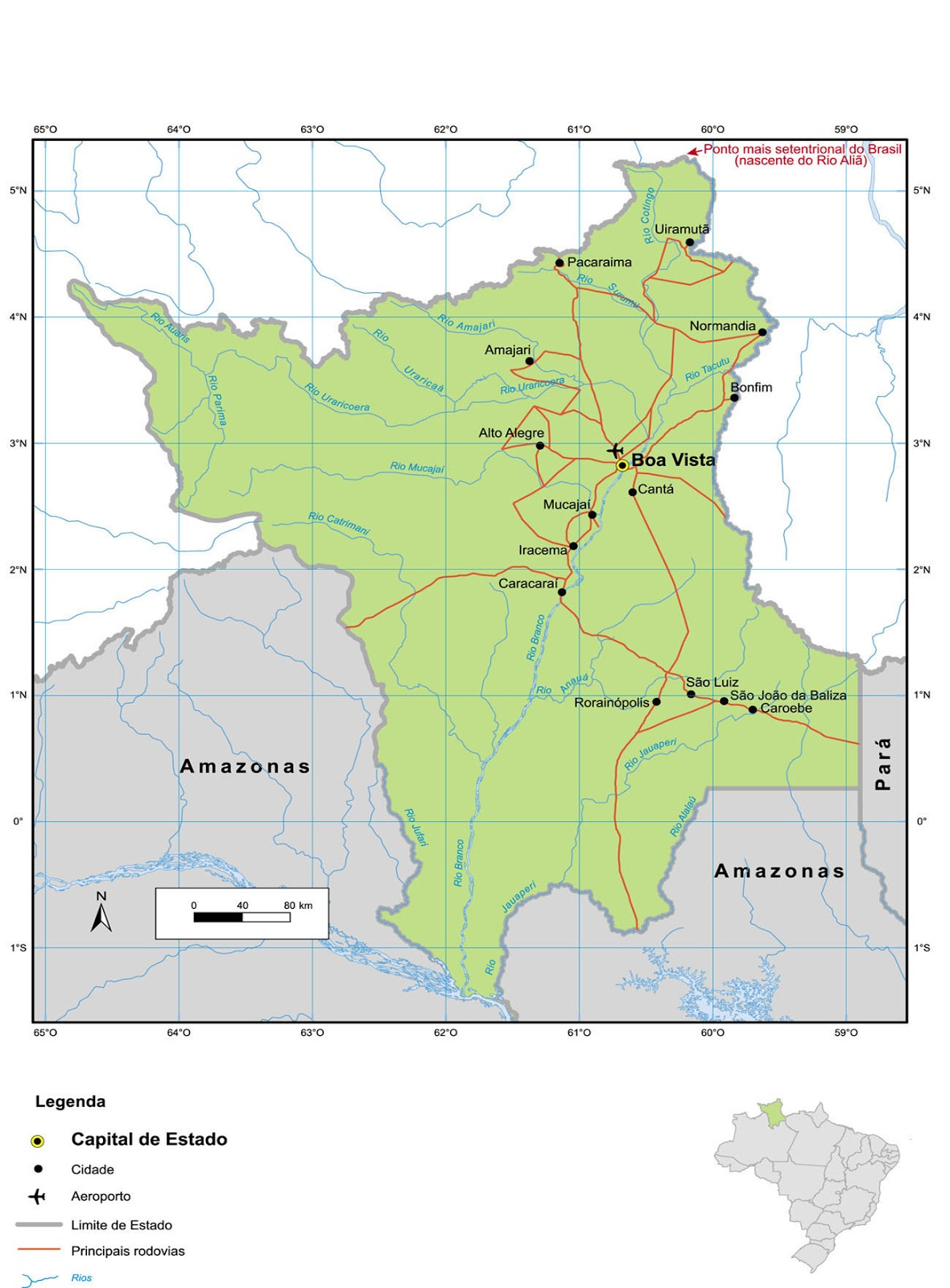 Mapas do Estado de Roraima