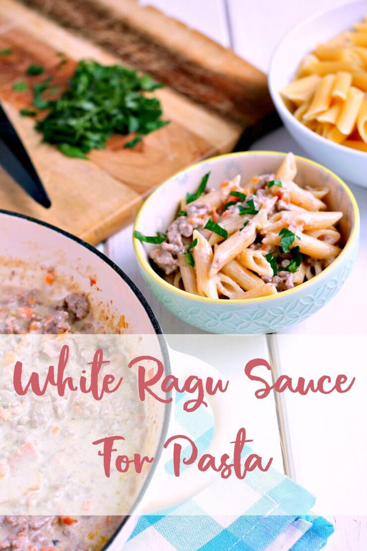 White Ragu Sauce For Pasta. No Tomatoes