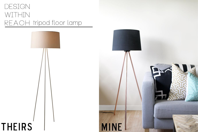 DIY tripod lamp | DIY | Pinterest
