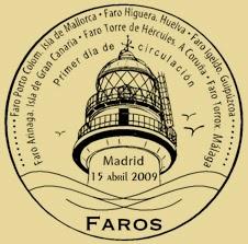 Matasellos PDC de la Hoja Bloque de Faros 2009