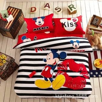 Bed cover dan sprei motif mickey mouse-3