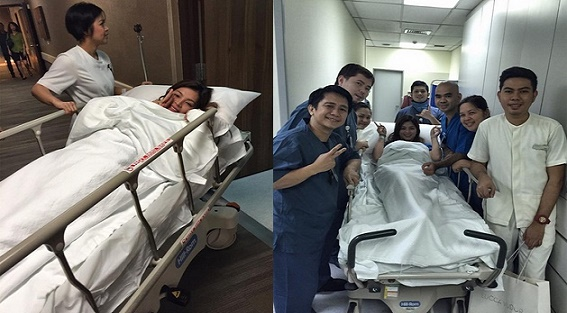 Angel Locsin in Singapore for Spine Surgery