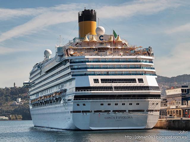 fotos de barcos, imágenes de barcos, costa favolosa, costa cruceros, vigo