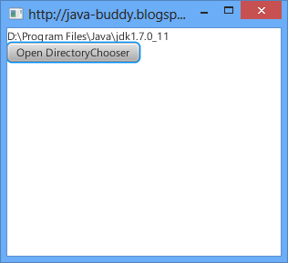java.io.File return from DirectoryChooser.showDialog()