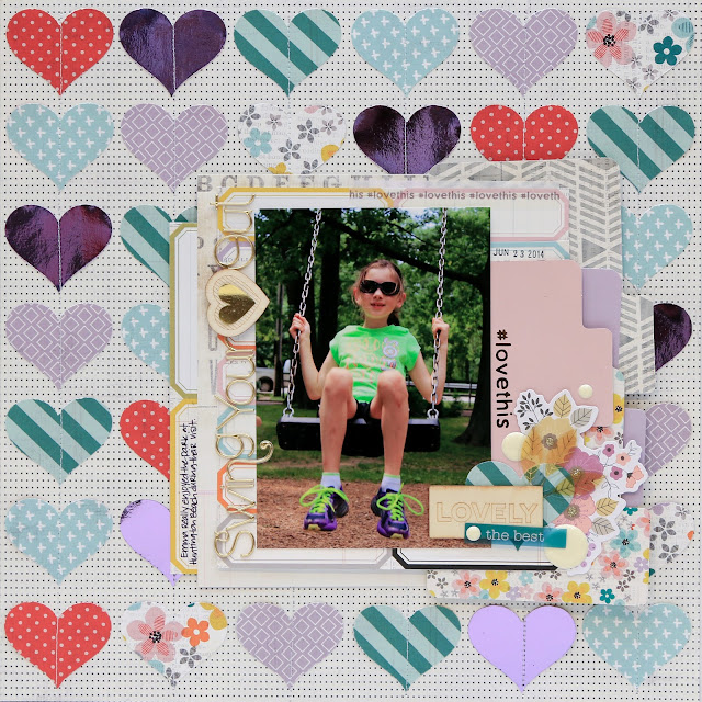 Love This Scrapbook Page by Juliana Michaels Stretch Your Punches Big Picture Classes