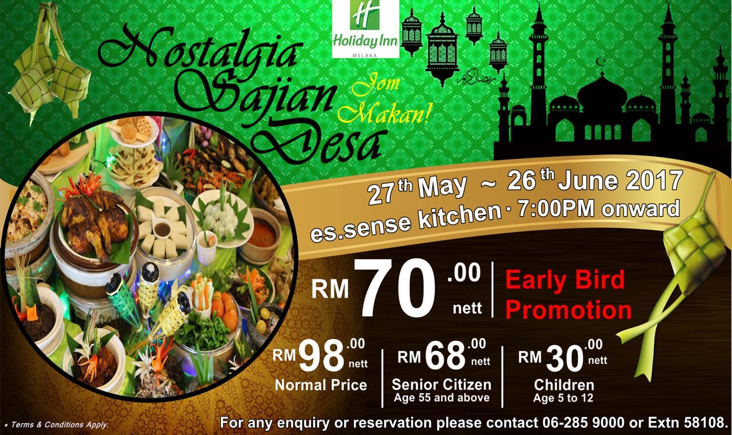 Buffet Ramadhan Holiday Inn Melaka 2017