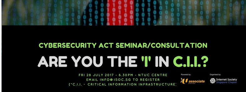 Are you the 'I' in CII? ISOC SG seminar on Singapore's