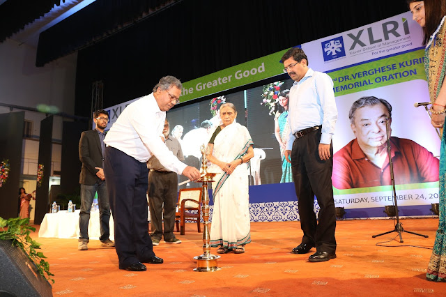 DR. ELA BHATT DELIVERS THE 3RD 'DR. VERGHESE KURIEN MEMORIAL ORATION ON SUSTAINABLE DEVELOPMENT' AT XLRI