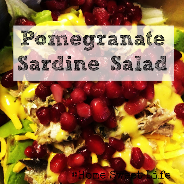 Wild Planet sardines, juicy gems, pomegranate salad, sardine salad