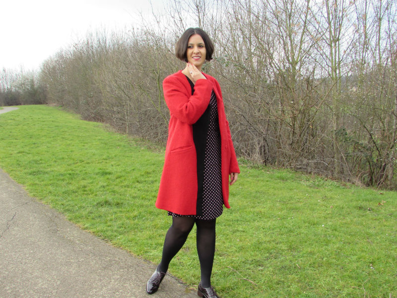 A bright red coat