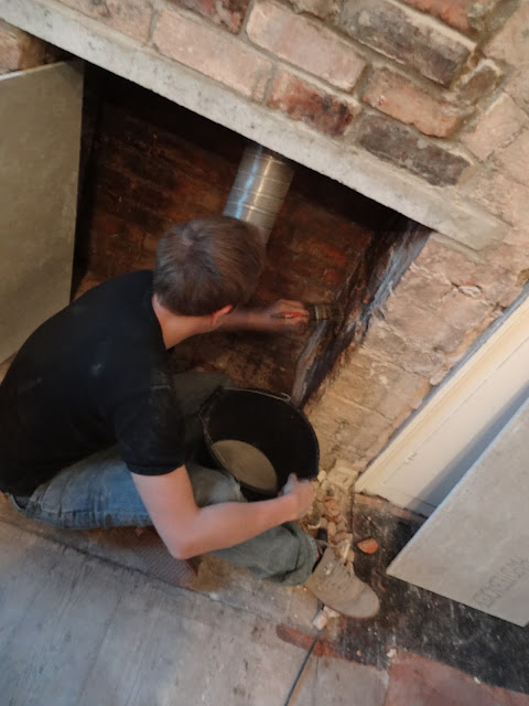 lining a chimney opening