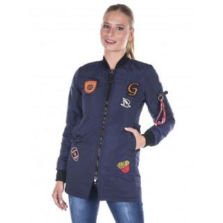 chaqueta bomber mujer larga de giorgio di mare