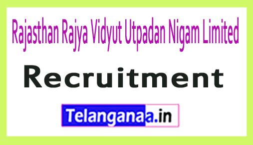 Rajasthan Rajya Vidyut Utpadan Nigam Limited RVUNL Recruitment