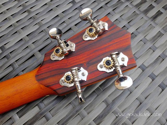 Cocobolo tenor ukulele tuners