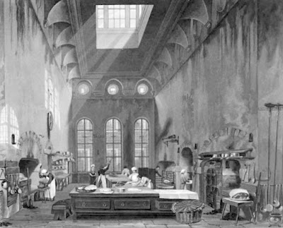 Kitchen, St James's Palace  from The History of he Royal Residences by WH Pyne (1819)