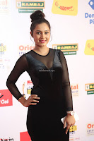 Vennela in Transparent Black Skin Tight Backless Stunning Dress at Mirchi Music Awards South 2017 ~  Exclusive Celebrities Galleries 069.JPG