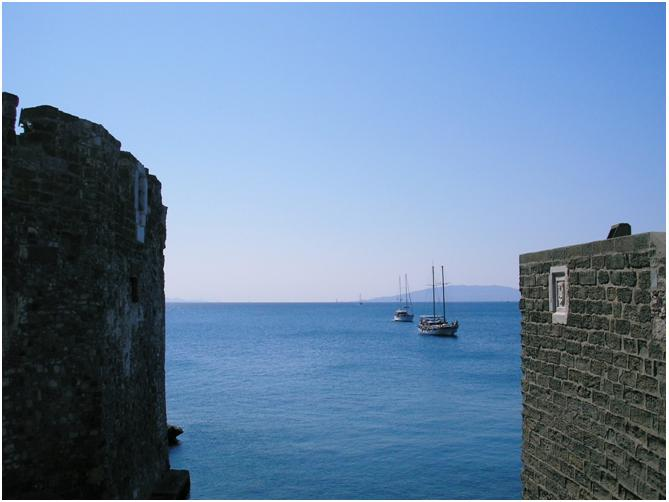 bodrum castle view
