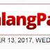 #WalangPasok: Class Suspension on September 13, 2017