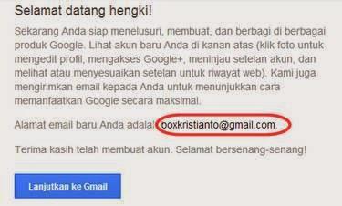 cara membuat email baru sudah jadi