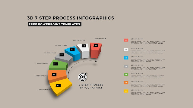 Multi Step 3D Circular Process Diagram Infographic Free PowerPoint Template Slide 10