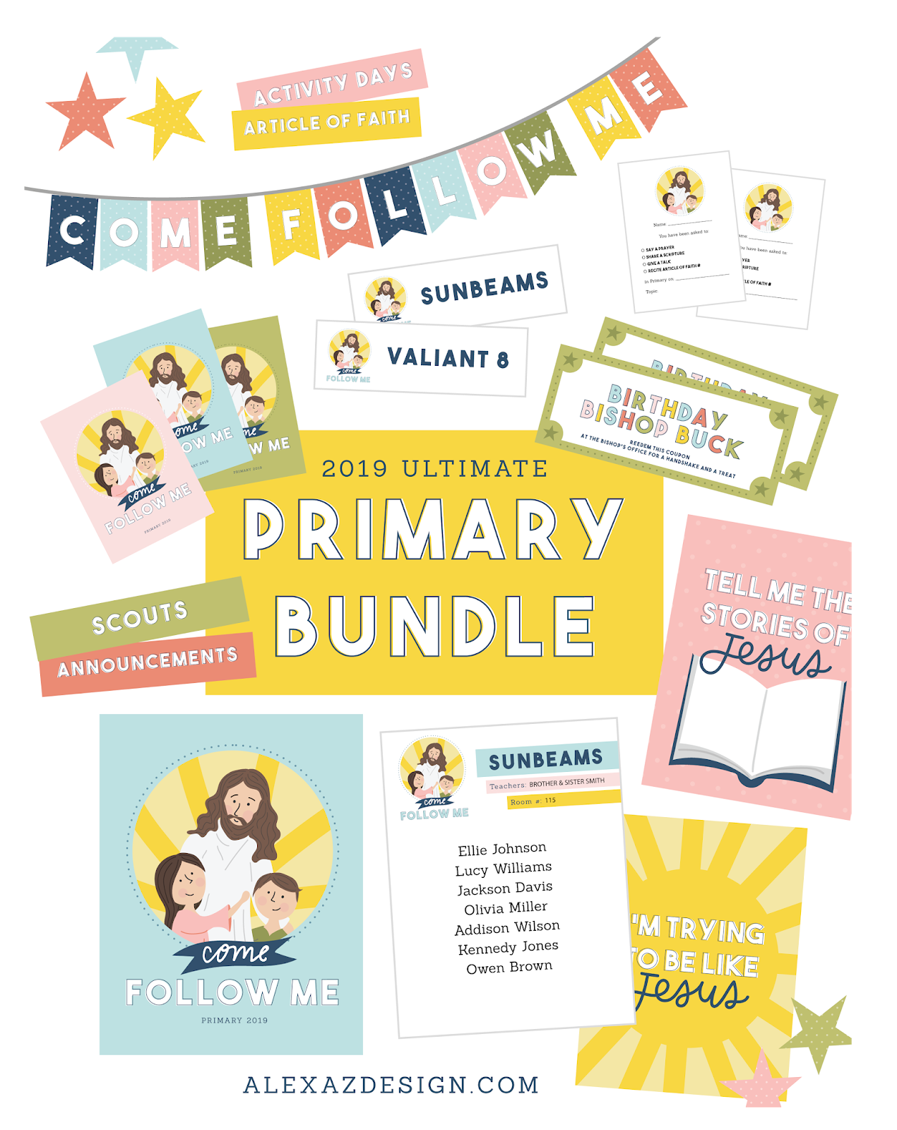 new testament primary printables