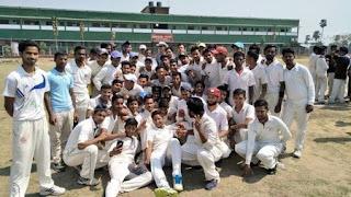 Cricket trial in Daudnagar