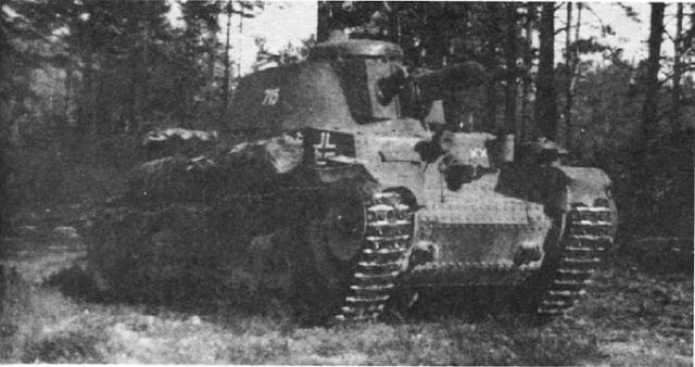 Легкий танк Pz. Kpfw 35 (t) из состава 6-1 танковой дивизии (6.Panzer-Division), тактический значок которой изображен на лобовой броне. Восточный фронт, лето 1941 года