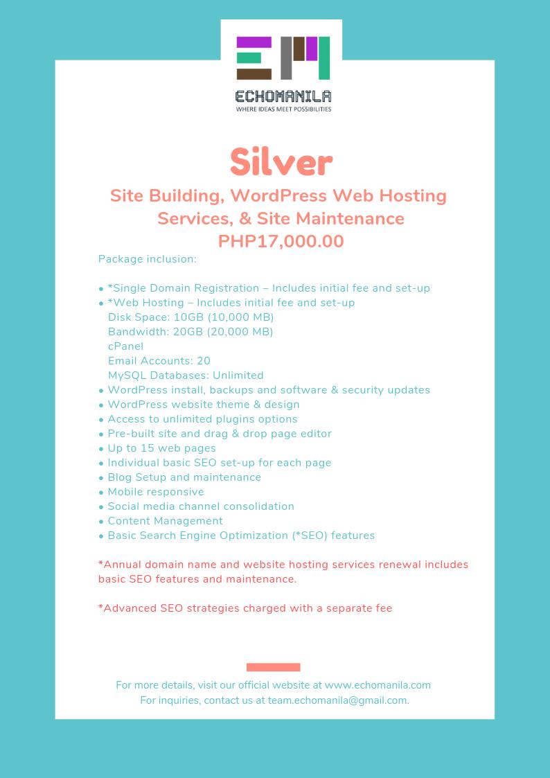 echomanila-wordpress-web-hsoting-package-silver