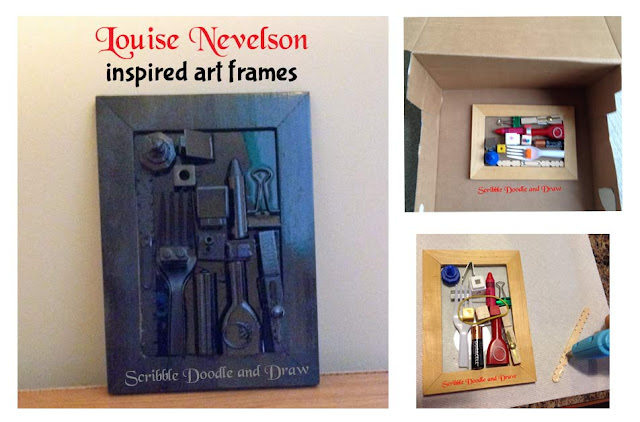 Louise Nevelson inspired art frames