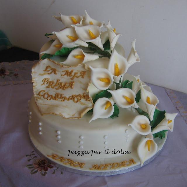 Favoloso pazza per il dolce: TORTA A DUE PIANI PER UNA PRIMA COMUNIONE EN46