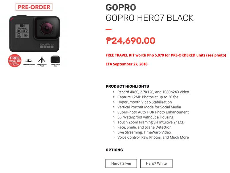 the GoPro Hero7 Black!