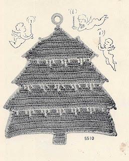 Crocheted Christmas Tree Potholder Pattern