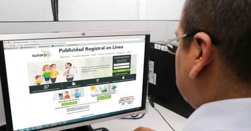 TRÁMITES SUNARP: Usuarios pueden realizar trámites registrales sin salir de casa