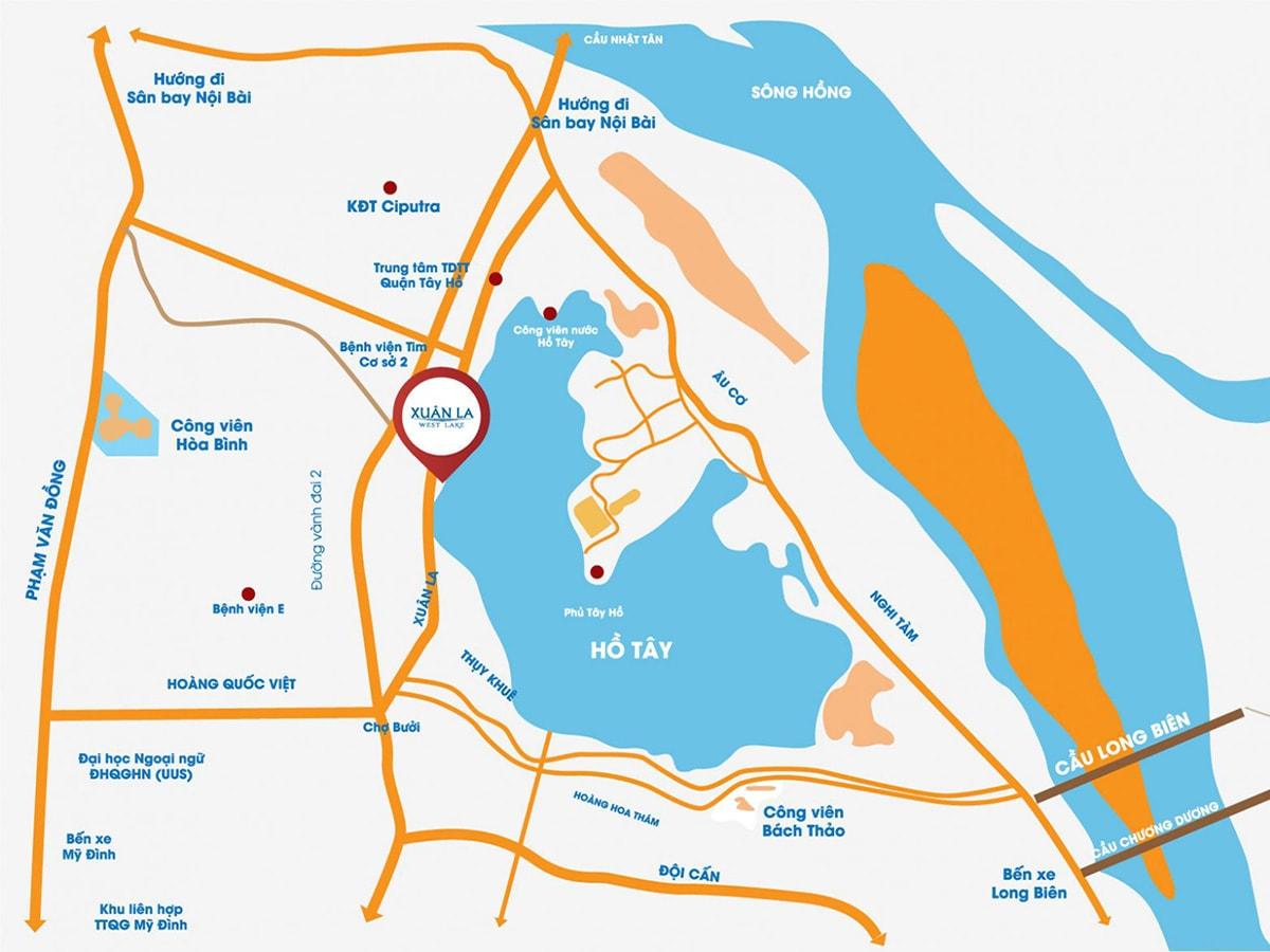 Vị trí dự án CT36 Xuân La