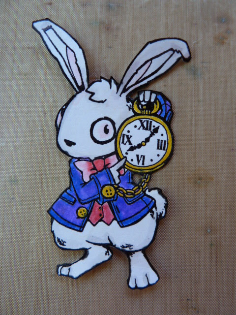 white rabbit stamp