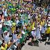 Manifestação contra o governo e corrupção reúne centenas de pessoas em Jacobina