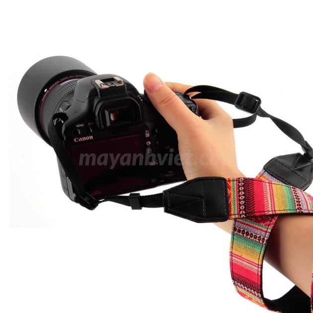 dây đeo máy ảnh thổ cẩm