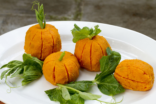Pumpkin Patch Side Dish #halloweensweetpotatopumpkinsnack