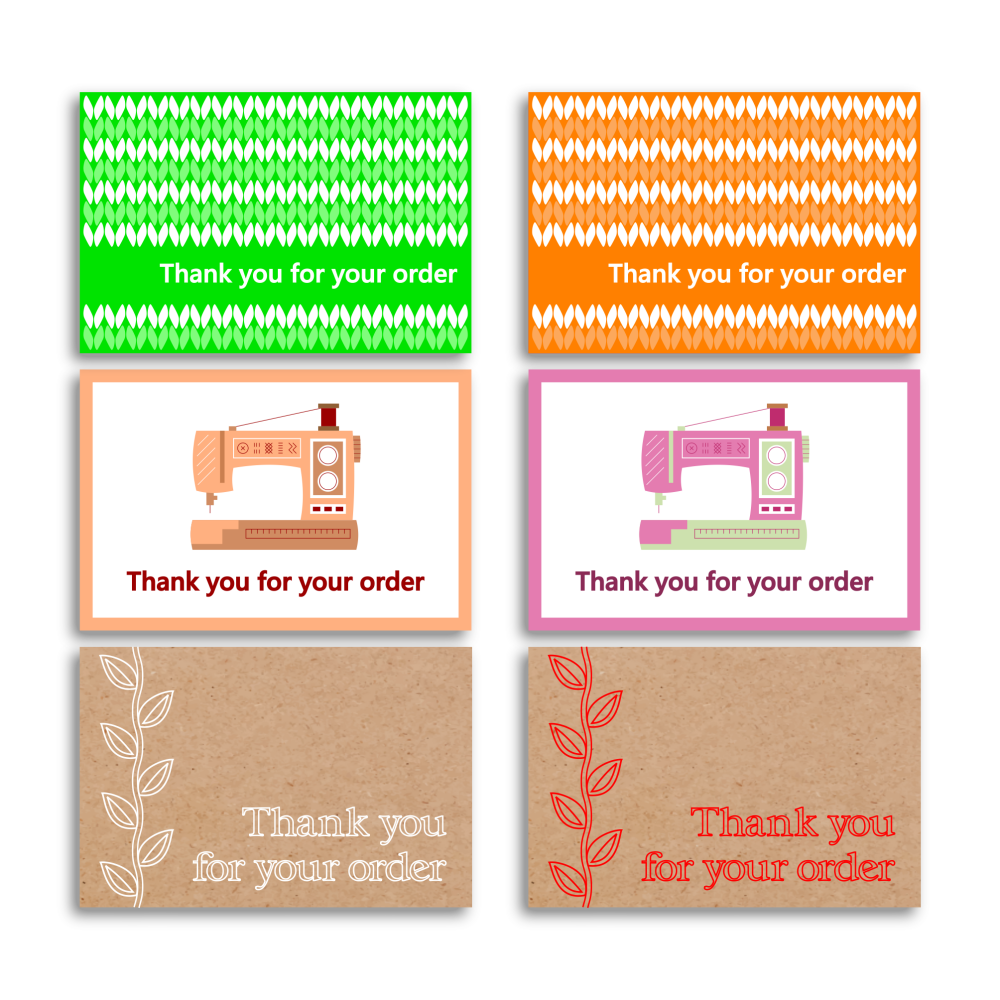Printable thank you business card samples.
