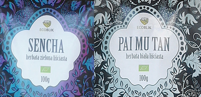 Sencha- herbata liściasta zielona i Pai Mu Tan- herbata liściasta biała z Ecoblik.pl