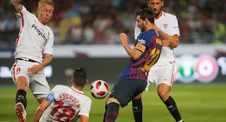 موعد وتوقيت مباراة برشلونة وإشبيلية قمة منافسات الجولة الـ 25 الدوري الإسباني