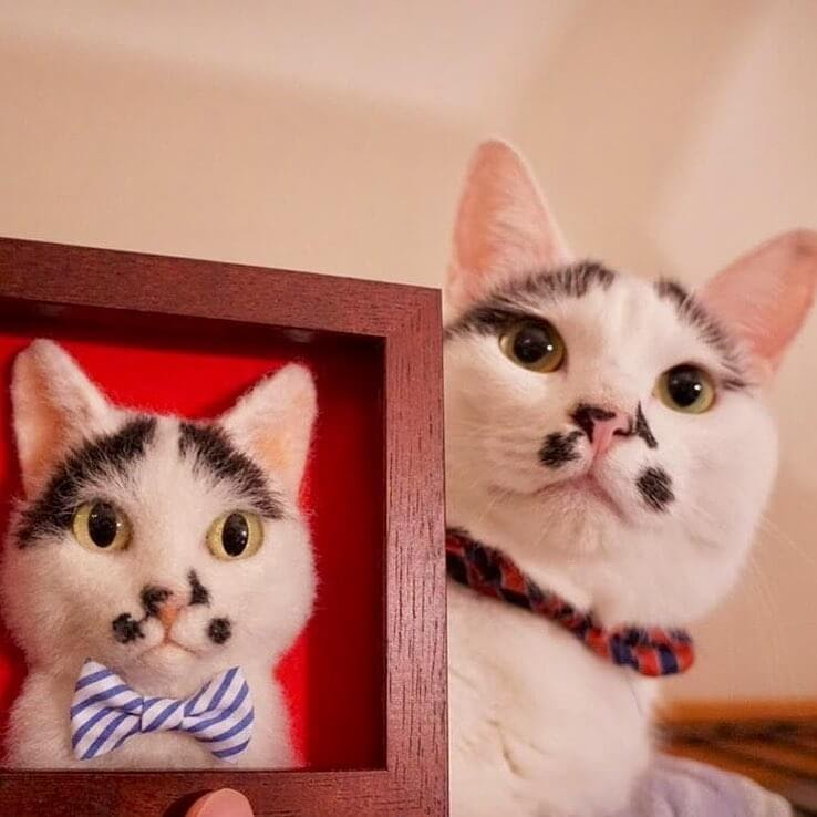 01-Wakuneco-Wool-Needle-Felt-Cat-Portraits-and-Video-Demonstration-www-designstack-co