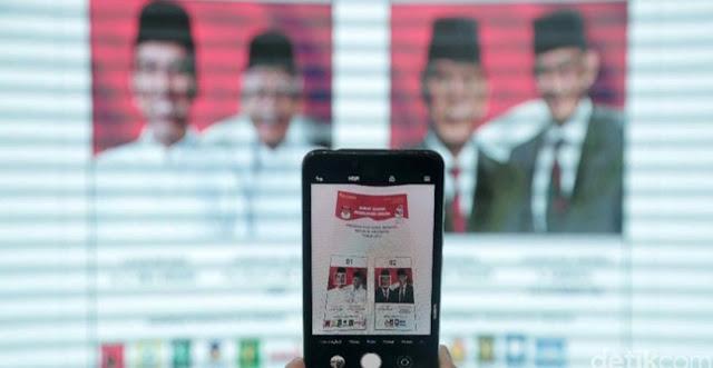 Selisih Jokowi-Ma'ruf Vs Prabowo-Sandi di 5 Survei Terbaru