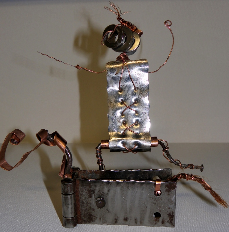 "Sculpture métal "" d'Artagnan"" recyclage"
