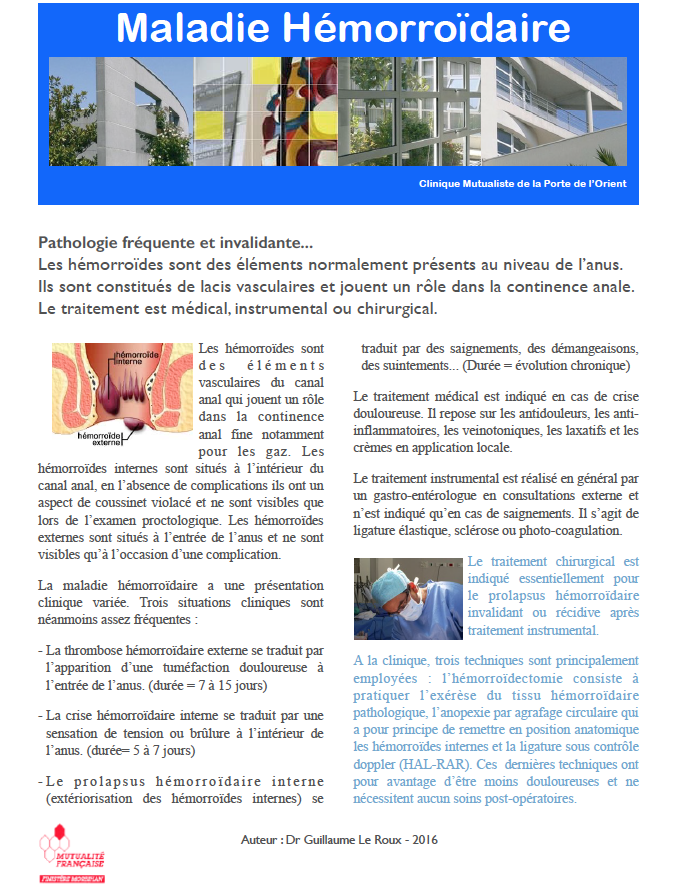 Chirurgie digestive et hepato biliaire maladie h morro daire - Clinique mutualiste de la porte de l orient ...