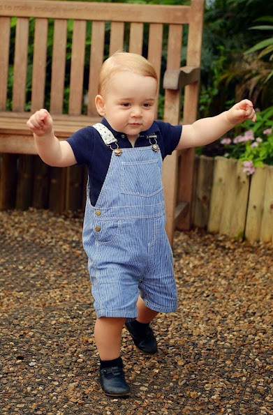 Kate Middleton released a new picture of their son Prince George ahead of his 1st birthday on Tuesday. Two more family photos
