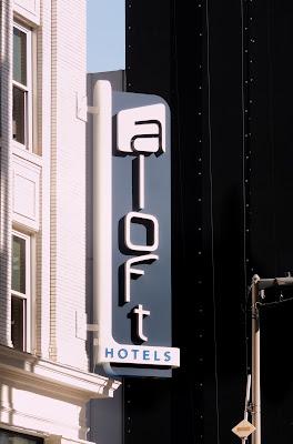 aloft hotel logo - signage at Downtown Hotel