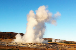 Eruption of Strokkur geyser